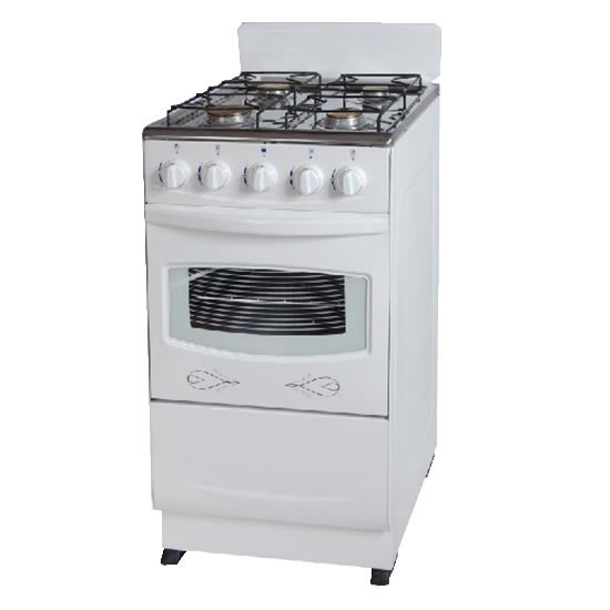4Burner Gas Stove With 50Liter Free Standing Oven