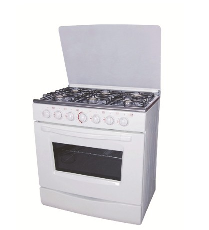 Full Stainless Steel 6Burner Electric Glass Cover Freestanding Oven