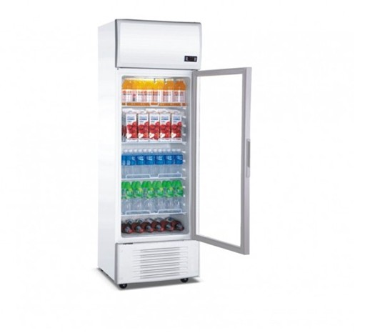 250Liter Beverage Cooler(Fan Cooling)Upright Show Case