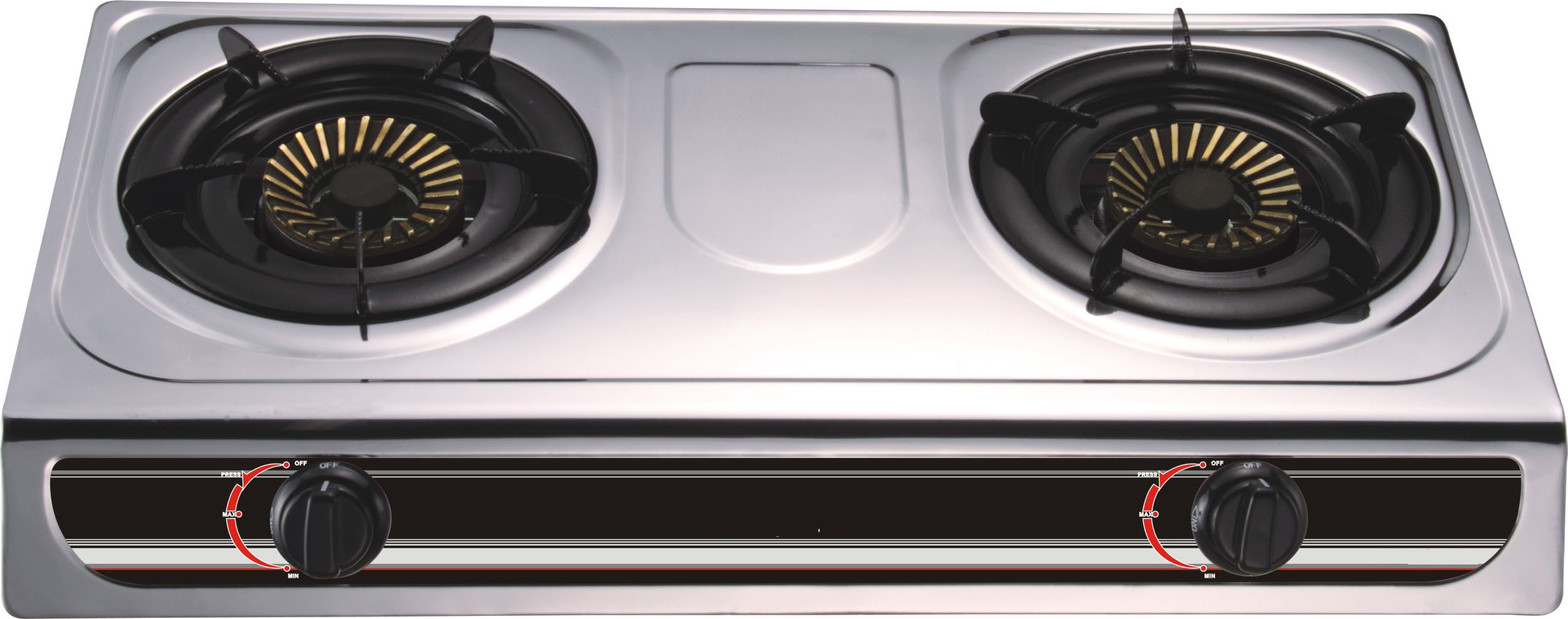 Stainless steel panel 2 Burner Gas Stove
