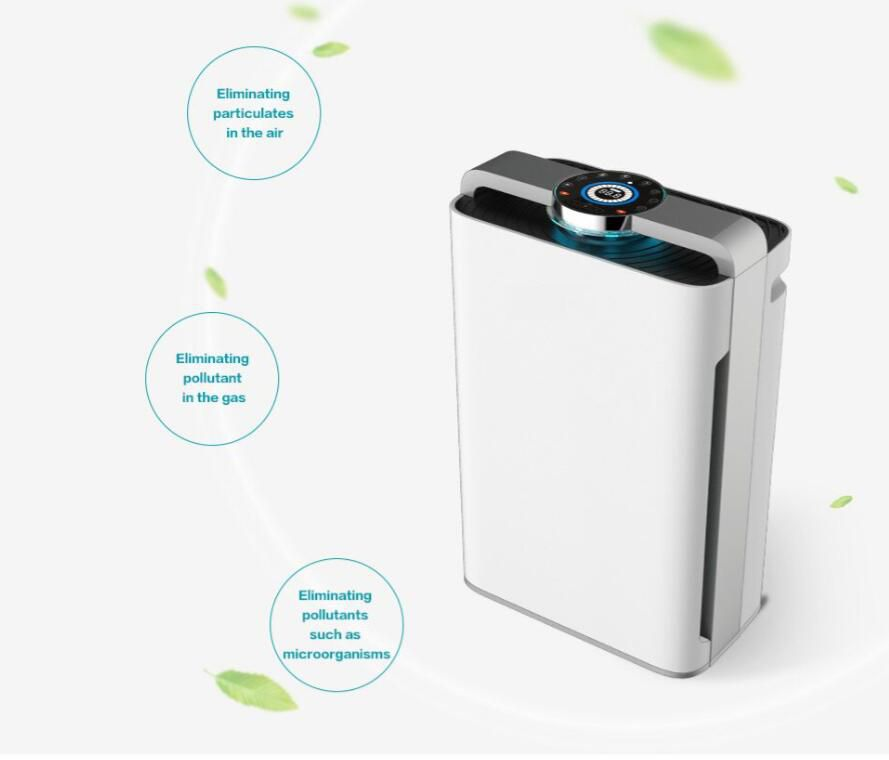 7 Stage Air Purifier Air purifier + Ionizer Design + UV lamp (3 in 1)+Humidifier