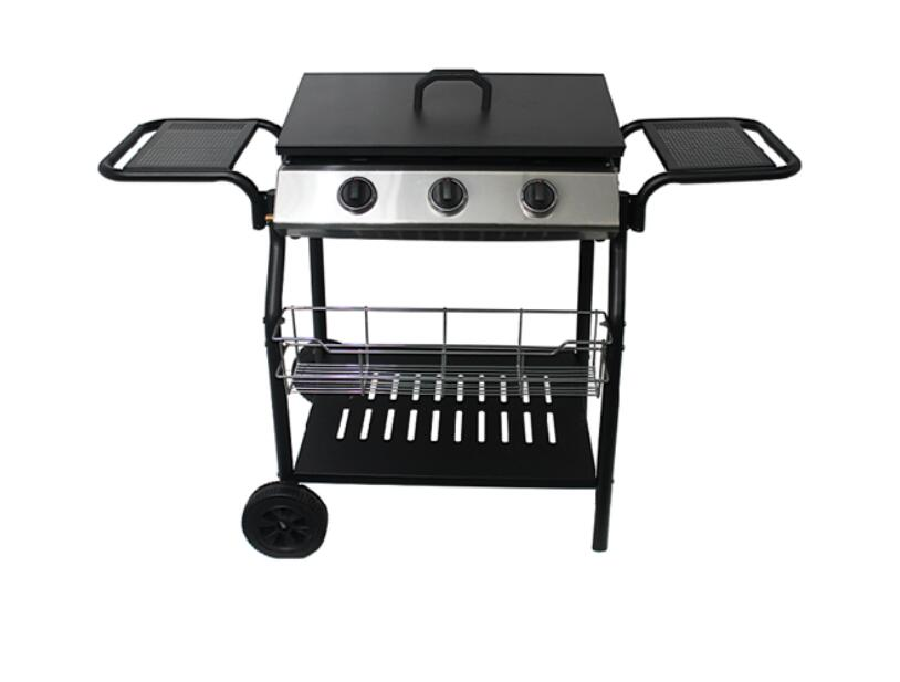 3 Burner Coating body Gas Grill Barbecue