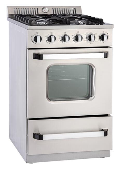 20inch Gas Freestanding Oven with 4 Burner Stove Cooker with ETL